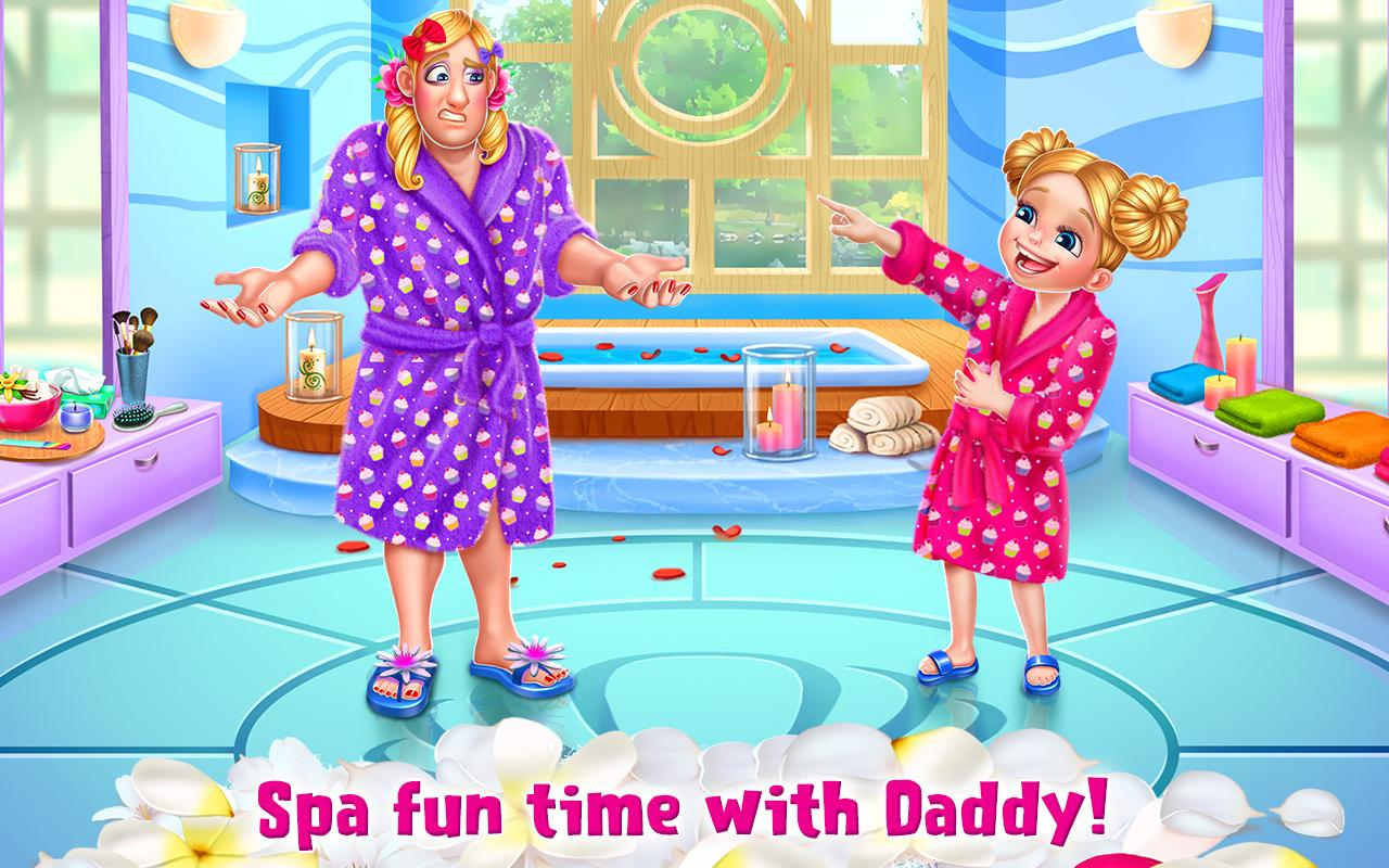 Spa Day with Daddy - Makeover Adventure for Girls- screenshot