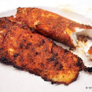 Grilled Blackened Tilapia.