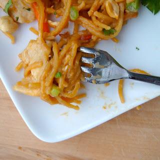 One Pot Asian Peanut Chicken + Noodles