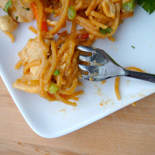 One Pot Asian Peanut Chicken + Noodles.