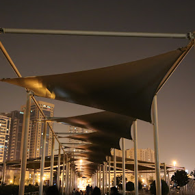 Entrance by Manoj Ojha - City,  Street & Park  City Parks ( khaled lagoon, al-majaj water front, canopy, night view, park, uae, buhaira corniche, sharjah, entrance )