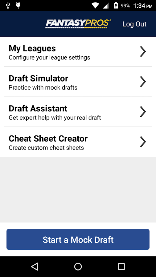 Fantasy Football Draft Wizard- screenshot