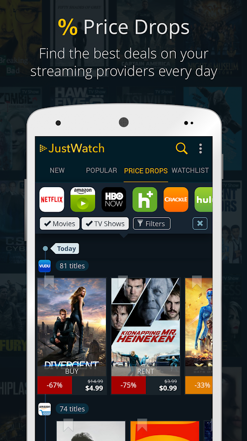 JustWatch - Movies & TV Shows- screenshot