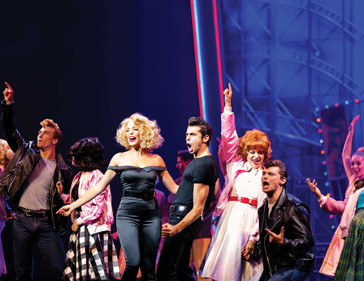 "Harmony-of-the-Seas-grease.jpg - Cast members during a performance of the hit musical ""Grease"" on Harmony of the Seas."