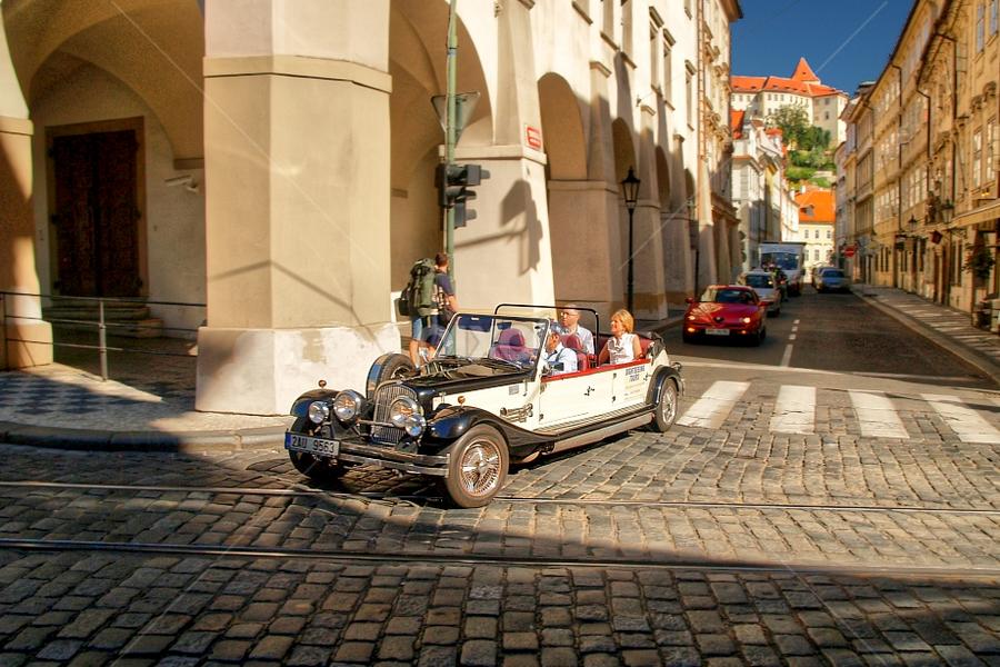 Malostranské náměstí, Tomášská ulice by Irena Brozova - City,  Street & Park  Street Scenes