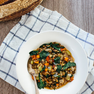 Hearty Sprouted Lentil Stew with Kale