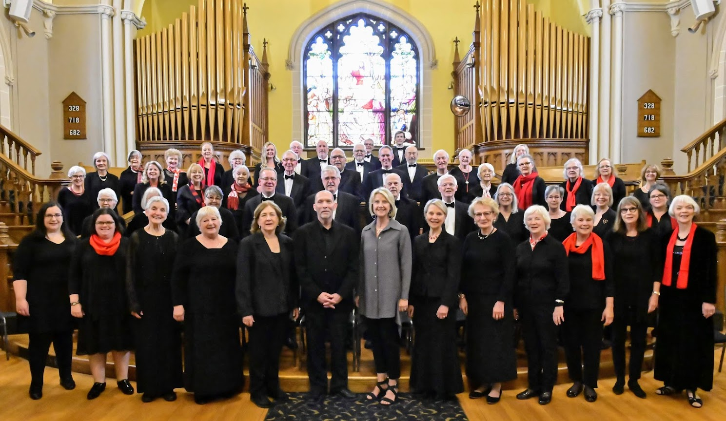 Choir before May 25, 2019 concert North meets South