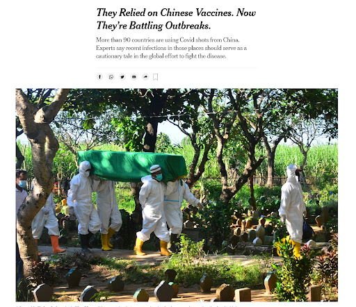 Corporate Media Joins the Anti-Vaxxers When It Comes to Chinese- and Russian-Made Vaccines