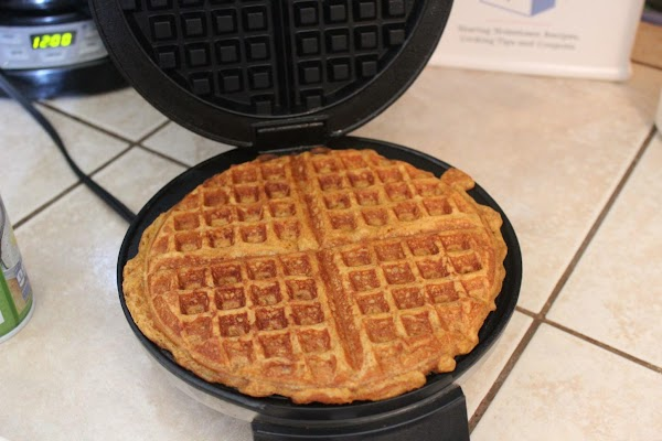 Waffles may be frozen and reheated in the microwave or oven.