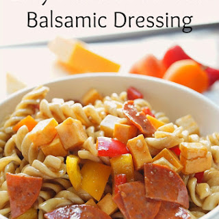 Classic Pasta Salad with Balsamic Dressing