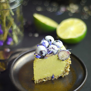 Raw Berry Lime Cheesecake