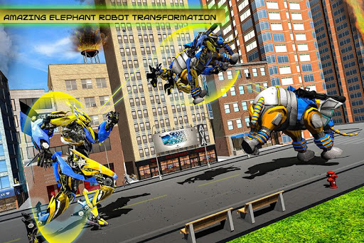 Transforming Robot Elephant Vs Ultimate Lion Robot Varies with device screenshots 4