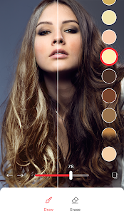 Hair Color Changer: Change your hair color booth Screenshot