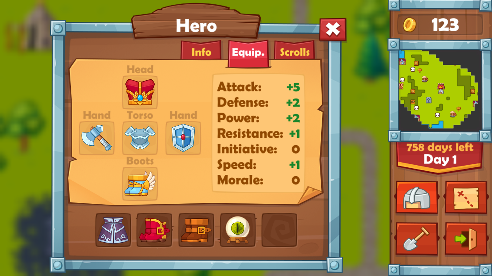 Heroes 2 : The Undead King- screenshot