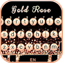Gold Rose Pearl Luxury Keyboard icon