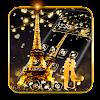Romantic Golden Paris Theme APK
