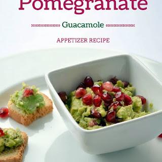 Pomegranate Guacamole colorful appetizer.
