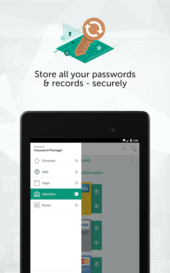 Kaspersky Password Manager & Secure Wallet Keeper- screenshot