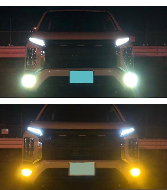 デリカD:5 CV1Wの新型デリカ,デリカd5,フォグランプ交換,#フォグランプ2色切替,ナイト撮影に関するカスタム&メンテナンスの投稿画像1枚目