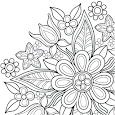 Flowers Mandala coloring book icon