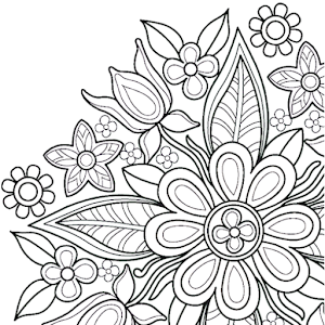 flowers mandala coloring book
