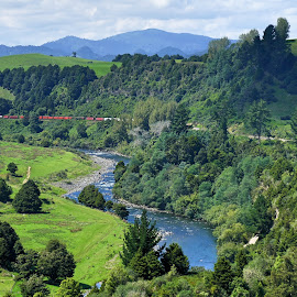 New Zealand by Louise Ritchie - Novices Only Landscapes ( mountains, nature, train, bush, landscape, river )