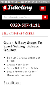 eTicketing -  eTickets Online- screenshot thumbnail
