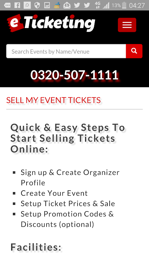 eTicketing -  eTickets Online- screenshot