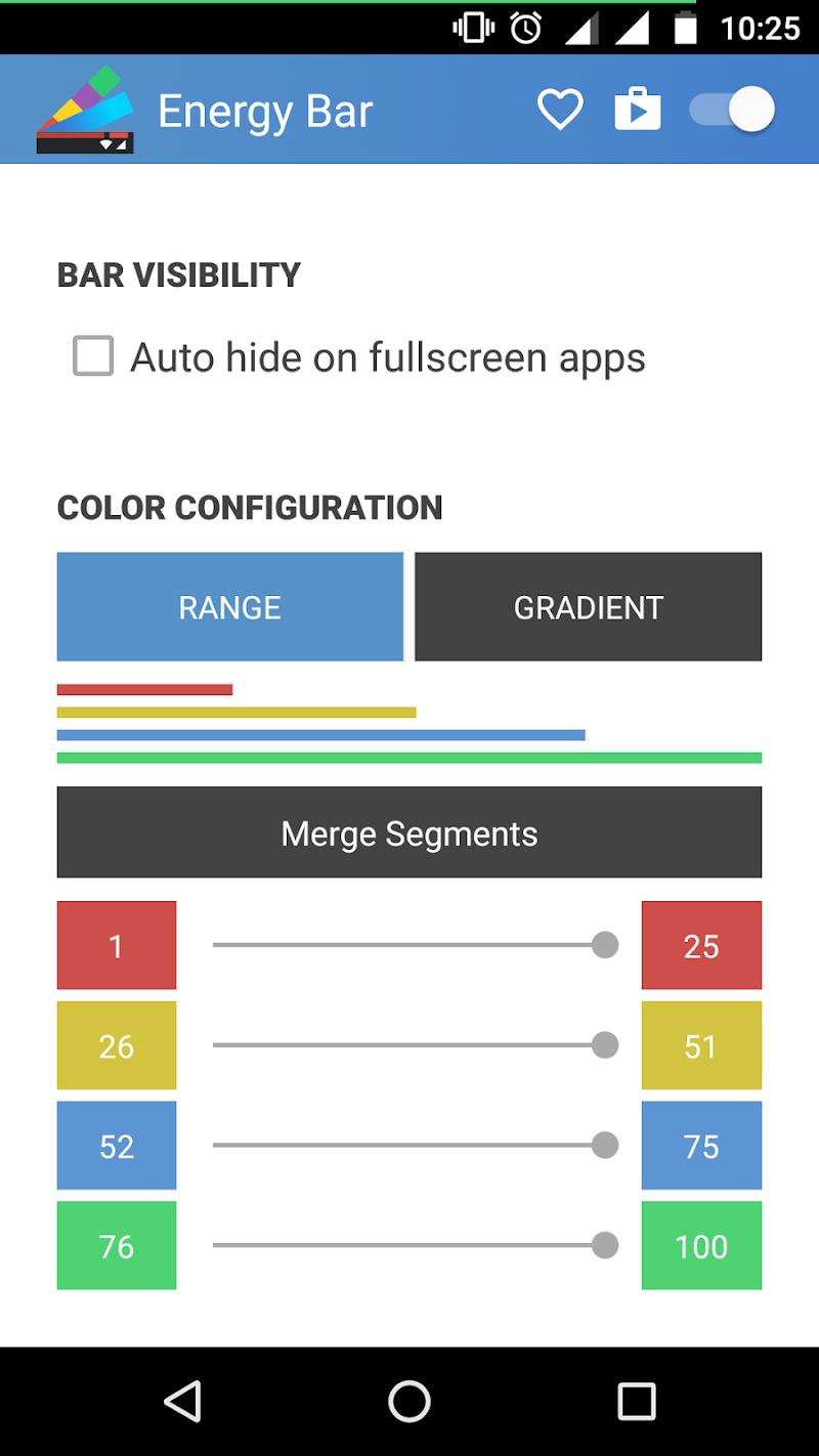 Energy Bar - A pulsating Battery indicator! Screenshot 2