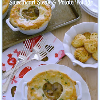 Sweetheart Steak and Potato Pot Pie