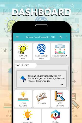 RRB Railway Exams - RRB JE, NTPC, RRC Group D Free 4.2 screenshots 1