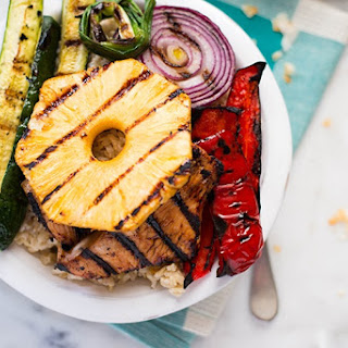 Grilled Hawaiian Turkey Teriyaki Bowl.
