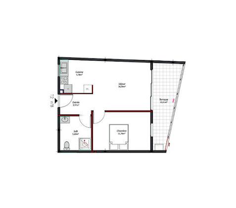 Location appartement 2 pièces 51,22 m2