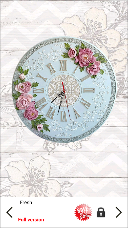 Shabby Chic Clocks Live Wallpaper- screenshot