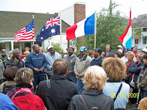 Photo: Everyone listens to Chanteymen on Beaufort Restoration Grounds - 2009 International Meeting of Beauforts in Beaufort, North Carolina
