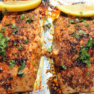 Sweet and Spicy Salmon.