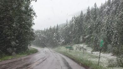 Photo: Snow is actually falling on us now!