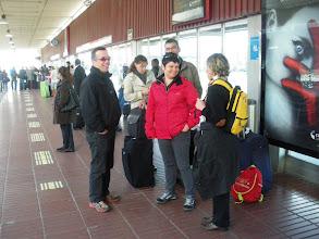Photo: arrivée à l'aéroport