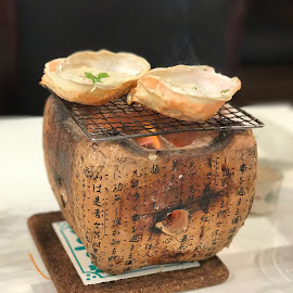 Shell Delicacy on Hot Stone Stove by Beh Heng Long - Food & Drink Plated Food ( japanese food )