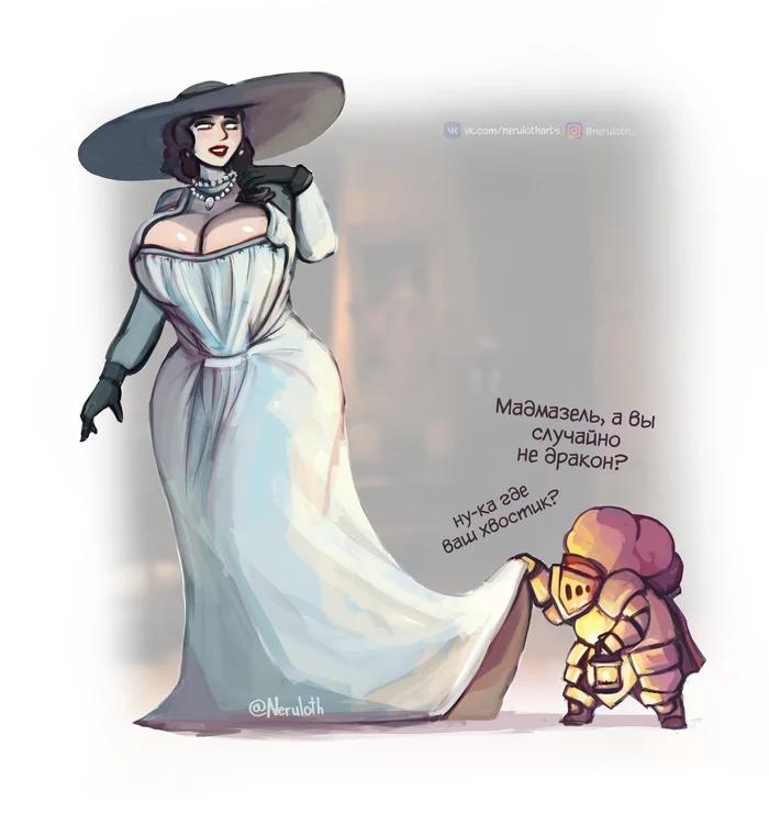 Пятничный арт — Высокая леди, Леди Димитреску или Lady Dimitrescu