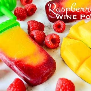 Raspberry Mango Wine Popsicles