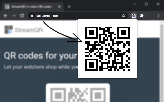 StreamQR - show current URL as QR Code