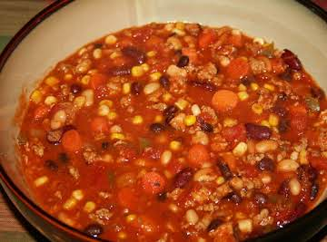 Three Bean Turkey & Chicken Chili
