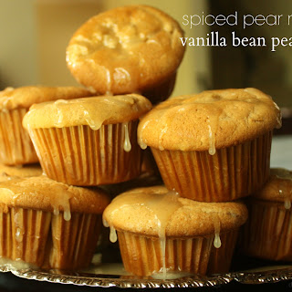 Spiced Pear Muffins & Vanilla Bean Pear Glaze