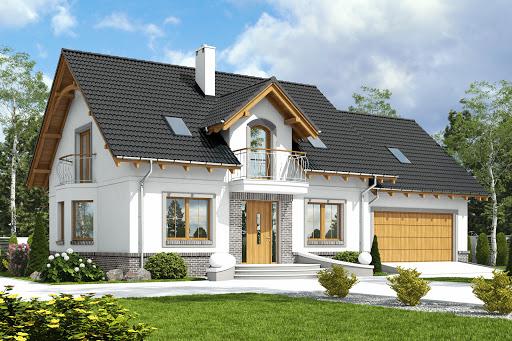 projekt Dom Dla Ciebie 1 w4 z garażem 2-st. A1