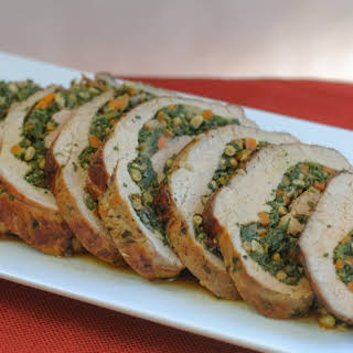 Spinach Stuffed Veal Roulade.
