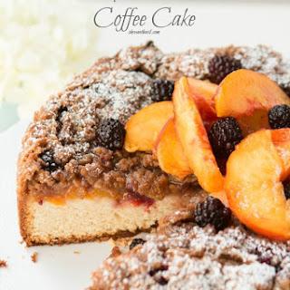 Blackberry Peach Cobbler Coffee Cake