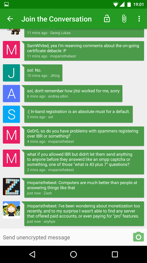 Conversations (Jabber / XMPP)- screenshot