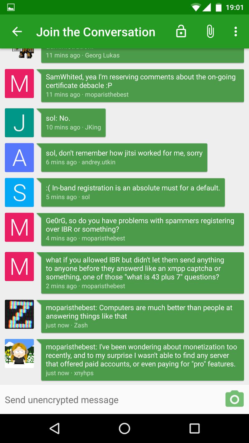Conversations (Jabber / XMPP) Screenshot 2