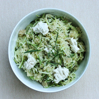 Zucchini Noodle and Quinoa Bowl with Fresh Rosemary and Herbed Cashew Cheese